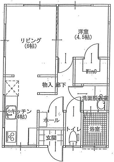 ハナブキ2階平面図